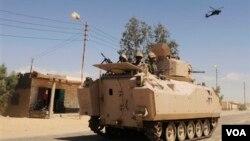 Militer Mesir tengah berupaya menumpas militan di Semenanjung Sinai (Foto: dok). Kelompok bersenjata dilaporkan menyerang