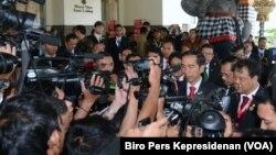 Presiden Joko Widodo memberikan keterangan di Nusa Dua Bali Kamis (11/8). (Foto: Biro Pers Kepresidenan)