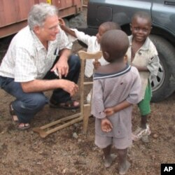 Ammann at work in Goma, Democratic Republic of the Congo.