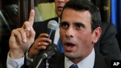 Henrique Capriles desconoció los resultados de los comicios de abril en los que fue declarado ganador Nicolás Maduro.