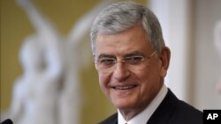 FILE - Turkish Minister for European Union Affairs Volkan Bozkir is seen in a Feb. 25, 2015, photo.