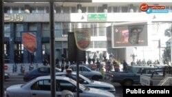 نیروهای پلیس مقابل وزارت نفت ایران