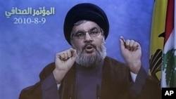 黎巴嫩真主党领导人哈桑·纳斯鲁拉(资料照片)