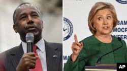 Ben Carson y Hillary Clinton lideran las encuestas en sus respectivos partidos republicano y demócrata.