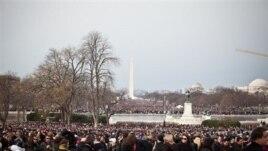 Dân Mỹ từ khắp nơi trong nước đến thủ đô Washington xem lễ tuyên thệ nhậm chức