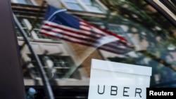 Sebuah kendaraan Uber terlihat di New York (foto: dok).