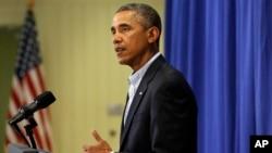 El presidente Barack Obama habló desde Martha's Vineyard donde vacaciona.