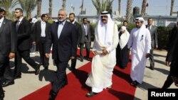 دیدار امیر قطر با رهبر حماس در نوار غزه، بیست و سوم اکتبر