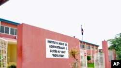 Instituto de Administração e Gestão Vida Nova, em Luanda - um dos quatro estabelecimentos de ensino encerrados devido aos desmaios misteriosos.