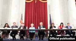 Komisi pemantau kebebasan beragama internasional, USCIRF, dalam konferensi pers laporan tahunan 2019 di Washington, D.C. (Foto: dok).