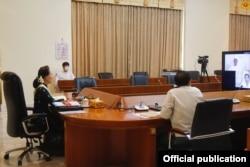 ေဒၚေအာင္ဆန္းစုၾကည္ (သတင္းဓာတ္ပံု - Myanmar State Counsellor Office)