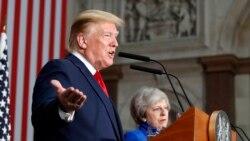 သမၼတ Trump နဲ႔ ဝန္ႀကီးခ်ဳပ္ May ပူးတြဲသတင္းစာရွင္း