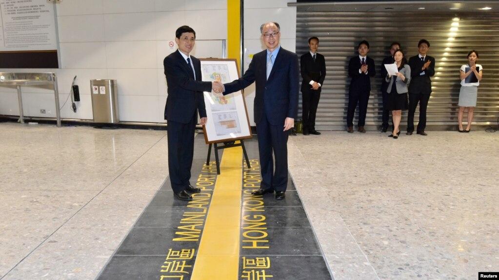 Chính quyền Hồng Kông bàn giao nhà ga West Kowloon cho Trung Quốc hôm 3/9/2018.