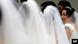 지난 2005년 3월 한국 서울에서 열린 탈북자 합동 결혼식. (자료사진)