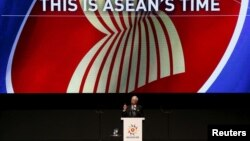 Malaysia's Prime Minister Najib Razak speaks during the opening ceremony of the 26th ASEAN Summit in Kuala Lumpur, Malaysia, April 27, 2015.