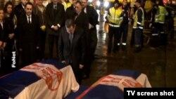 Posmrtni ostaci službenika ambasade u Libiji stigli na aerodrom Nikola Tesla, 23. februar 2016.