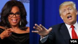 Oprah Winfrey y el presidente de Estados Unidos Donald Trump.