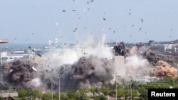 朝鲜2020年6月16日公布炸毁南北方联络处照片