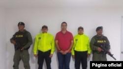 Nidal Ahmed Waked Hatum arrêté en Colombie. Photo: Policía Antinarcóticos Colombie