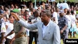 Le président Faure Gnassingbe, vainqueur de l'élection présidentielle du 25 avril au Togo.