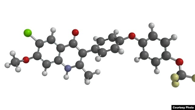 A chemical model of ELQ-300. (Image courtesy of Michael Riscoe)