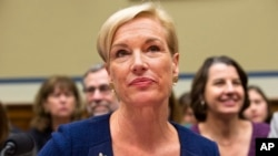 FILE - Planned Parenthood Federation of America President Cecile Richards testifies on Capitol Hill in Washington, Sept. 29, 2015.