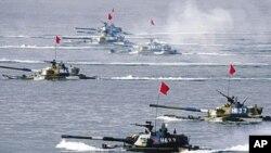 中俄在黃海舉行聯合軍演