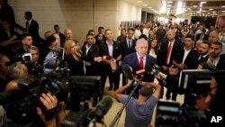 Izraelski premijer Benjamin Netanjahu obraća se