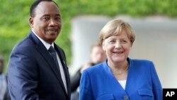 Shugaban Nijar Issoufou Mahamadou da Shugabar Jamus Angela Merkel