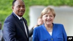 Shugaban Nijar Issoufou Mahammadou da Shugabar Jamus Angela Merkel