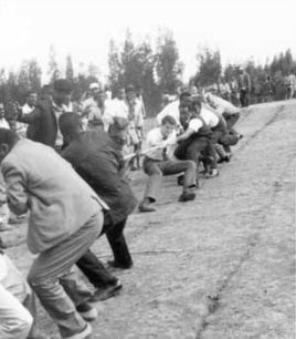 Tug-of-war, Ethiopian style....uphill, downhill