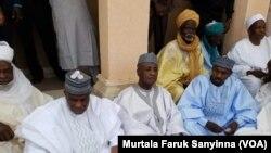 Gwamnan Sokoto Aminu Tambuwal Lokacin Jana'izar Magatakardar Wamakko