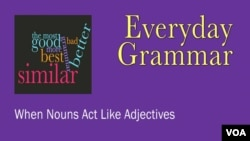 EG: Main - When Nouns Act Like Adjectives