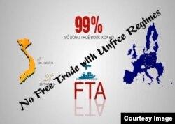 Một số người muốn gắn các điều kiện nhân quyền với việc thông qua EVFTA