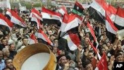 បាតុកម្មនៅឯទីលាន ថារី ( Tahrir) ប្រទេសអេហ្ស៊ីបកាលពីថ្ងៃទី២៥ កុម្ភះ ឆ្នាំ ២០១១