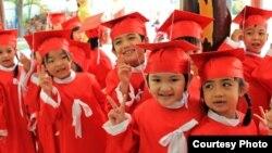 Trẻ em trường mẫu giáo ở Phan Thiết, tỉnh Bình Thuận, Việt Nam. (Ảnh: Nguyễn Thái Bình / độc giả VOA)
