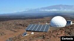 El terreno donde se instaló el proyecto es similar a la superficie marciana.