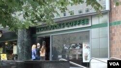美国首都华盛顿的一家星巴克咖啡店
