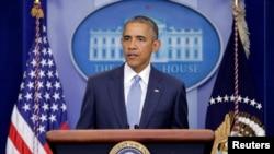 """صدر اوباما په کانديدانو او د هغوې په پلويانو غږ کړی چې د دغه ډول """" بې پرواه تورونو"""" څخه ډډه وکړي کوم چې د زيات کړکېچ سبب ګرځي ."""