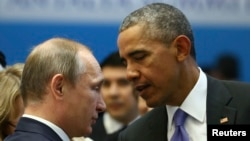 Vladimir Poutine et Barack Obama,Sommet du G-20, Antalya, Turquie, le 16 novembre 2015. (Kayhan Ozer/Anadolu Agency via AP, Pool)