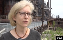 Jill Schennum, a cultural anthropologist, is a board member of Steelworkers Archives, a nonprofit organization that collects oral histories and provides educational outreach regarding the Bethlehem Steel plant.