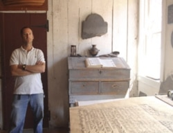Nicholas Benson in his studio in Newport, Rhode Island