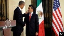 Obama y Peña nieto sostuvieron una agenda diversificada en el primer encuentro entre ambos mandatarios en México.