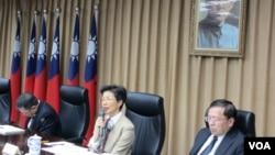 台湾陆委会1月29号举行年终记者会 (美国之音张永泰拍摄)