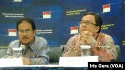 Menteri Keuangan, Bambang Brodjonegoro (kanan) dan Menko bidang Perekonomian, Sofyan Djalil. (Foto: Dok)