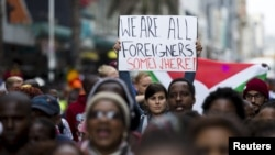 Thousands March Against Xenophobia in South Africa