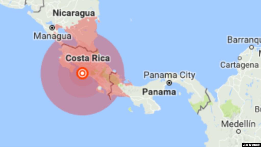 Sismo de 6,4 grados en Costa Rica deja 3 muertos