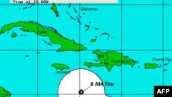 Giai đoạn nghiêm trọng nhất của bão Tomas, theo dự báo, sẽ ập vào Haiti trong ngày thứ Sáu