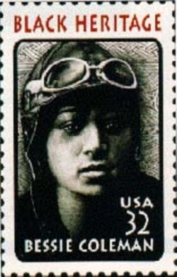 Bessie Coleman was honored by the U.S. Postal Service in 1995