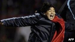 HLV Maradona, người được mong đợi sẽ đưa đội tuyển Argentina tới vinh quang World Cup 2010